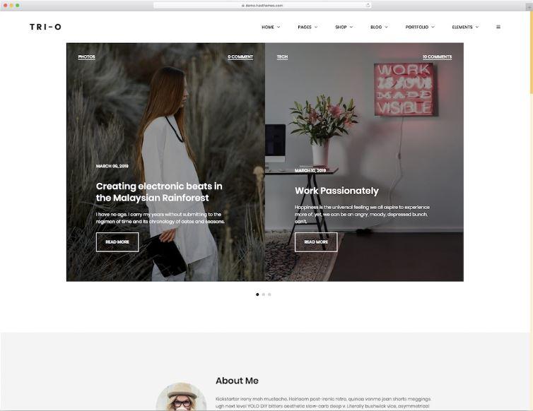 Tri-O - mẫu website tin tức đơn giản nhưng sáng tạo