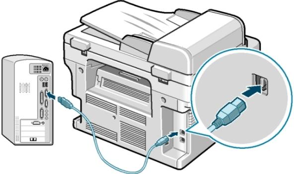 Kết nối máy tính với máy in
