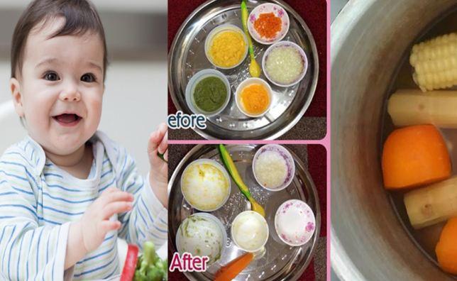 Cho bé ăn từ 1 đến nhiều loại thực phẩm