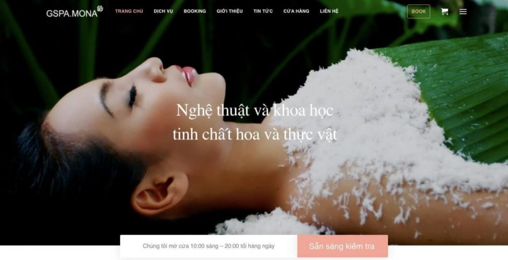 Mẫu web Grand Spa
