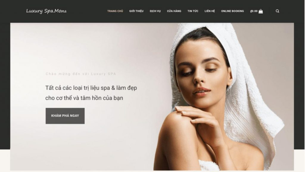 Mẫu website đẹp Luxury Spa