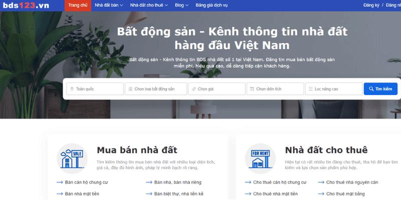 web đăng tin bất động sản bds123